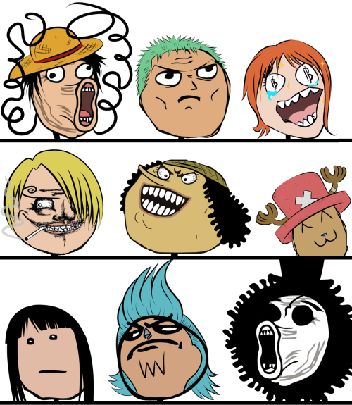 Rage Faces: One Piece by ~Holy-Red-Cockroach I couldn't resist…I'M SO SORRY FOR REBLOGGING THIS