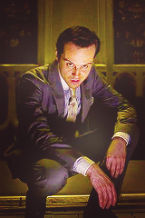 drswriting:  aryastarkson:  PERFECT CHARACTERS [04/05]: James Moriarty, played by Andrew Scott.  …uh, WHERE is the top middle image from? I do NOT remember Moriarty wearing that/looking like that.  It's from Chasing Cotards, my dear.