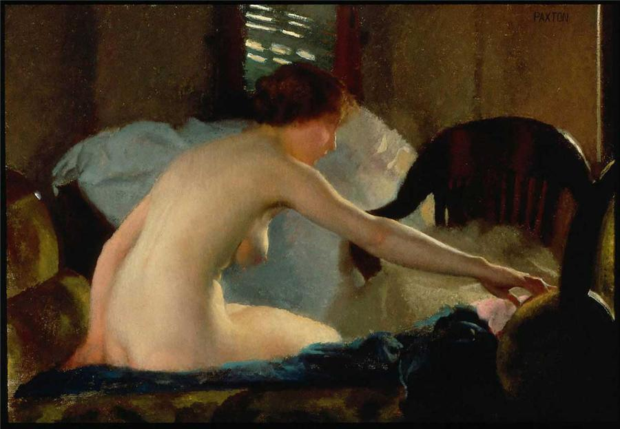 William McGregor Paxton, Nude portrait of a young woman