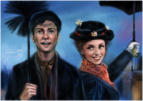simplydisneythings:  Bert and Mary Poppins by *daekazu