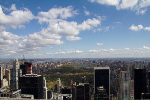 The view from Rockefeller Center, April 12, 2012, NYC