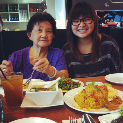 Thai lunch with ah mah and thattohtohgal one Friday afternoon! Was my treat :)