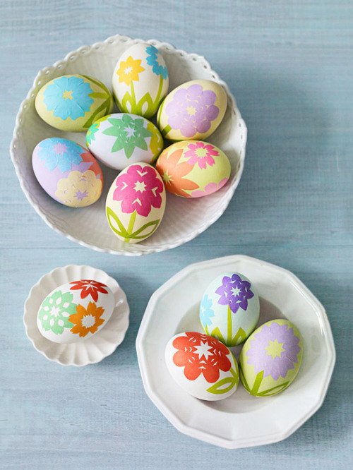 origami flower easter eggs