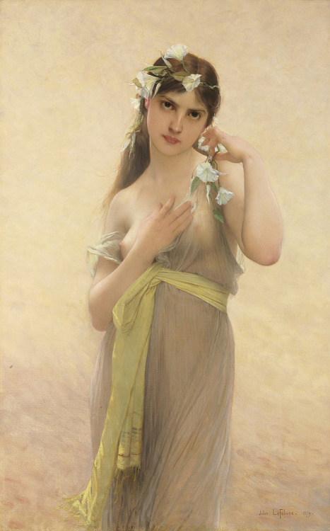 "wasbella102:  seabois: Jules Joseph LeFèbvre (French, 1836-1911), ""Morning Glory"" felixinclusis:"