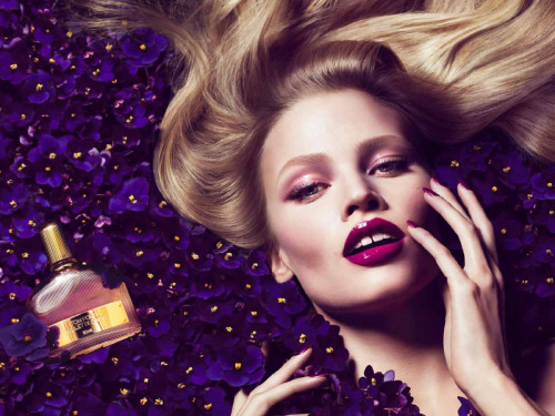"flowingvisualmind:  ""Violet Blonde"" Tom Ford campaign, Lara Stone by Mert&Marcus"