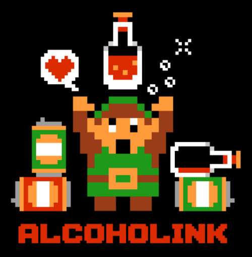 "Buy Alcoholink on RedBubble. ""It's dangerous to go sober. Take this.""  Follow Harebrained on Facebook!"