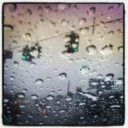 #aprilshowers #rain #inacar (Taken with instagram)