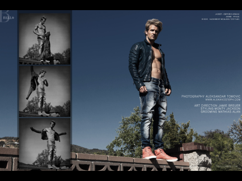 My shoot w @Bellomag turned out fantastic!!! Check out this #sneakpeek of our cover man Parker Hurley