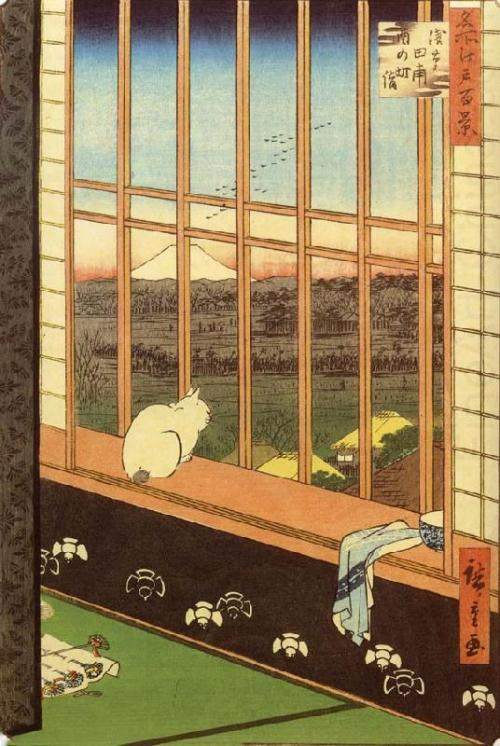 Cat at WindowAndo Hiroshige, 1797-1858