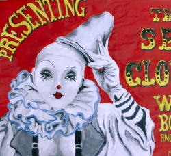 Circus Poster Series, acrylic on canvas, 2012.