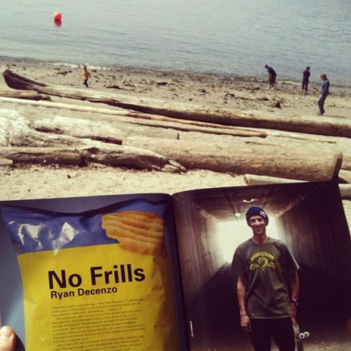 Great day for a read at the beach @concreteskatemag @decenzzzz #skatelife #vancouver (Taken with instagram)
