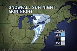 Spring Northeast Snowstorm on the Way!  A wild spring snowstorm is heading toward the Northeast late Sunday night into Monday, only one week after highs soared into the 80s across the region. The storm will produce heavy rain, strong winds and a tree-snapping snowfall.