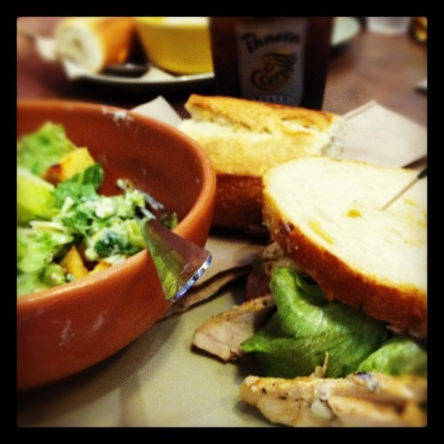 Panera for lunch! Mmmmm…😊❤ (Taken with instagram)