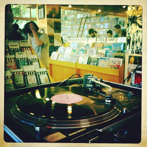 Jackpot downtown now! #recordstoreday (Taken with instagram)