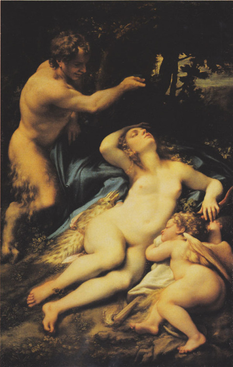 svell:  Correggio, Venus and Cupid with a Satyr, c. 1528.