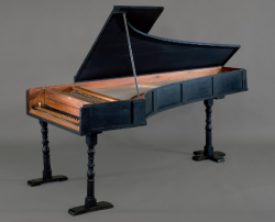 Grand Piano by Bartolomeo Cristofori, 1720. Yes, this dude was the inventor of the piano.
