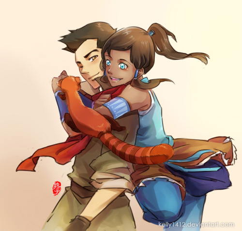 fyeahmako:  Makorra_hey Pabu by *kelly1412  OMG this is adorbs..love the art style