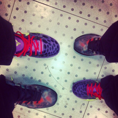 Me and my co-worker. KOBE FANATICS! #SneakerHeads ;) (Taken with instagram)
