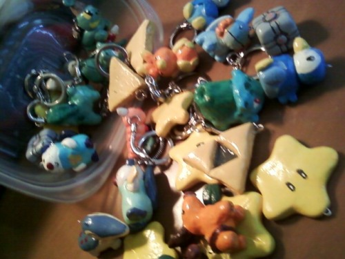 cutie-clay-creations:  Holding a contest for FREE geeky jewelry and accessories!! Curtsy of Cutie Clay Creations @ Etsy.com   As a celebration of the grand opening of Cutie Clay Creations over on Etsy, I'll be hosting a contest to get the name out there!   About Cutie Clay Creations: AWe are a small, 1 person run and owned craft shop. Specializing in geeky accessories. Everything we make is hand made from Polymer clay, hand painted and then glossed for a nice shine  1st place: 2 pairs of Earrings, (fish hook and stud), A Keychain and 40% off anything in my Etsy Store  2nd place: A keychain. And 40% off anything in my etsy store   3rd place: 40% off anything in my Etsy Store, plus a freebie charm of your choice.    Likes are counted as an entry Reblog as much as you want No need to follow this blog, but follows would be loved. <3 You may only reblog this up to 5 times Send this to all your friends who like winning free stuff!  This giveaway will end on the May 30th Got a FACEBOOK too? Like our page for another entry.  Please have your askbox open! Don't have you ears pierced? We can work something out, I have several other accessories you can exchange the earrings for if you happen to win.   Let's help get this new shop on its feet! =)