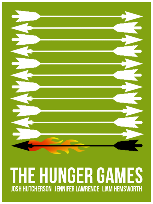 The Hunger Games Minimalist Movie Poster by ~Steeevie