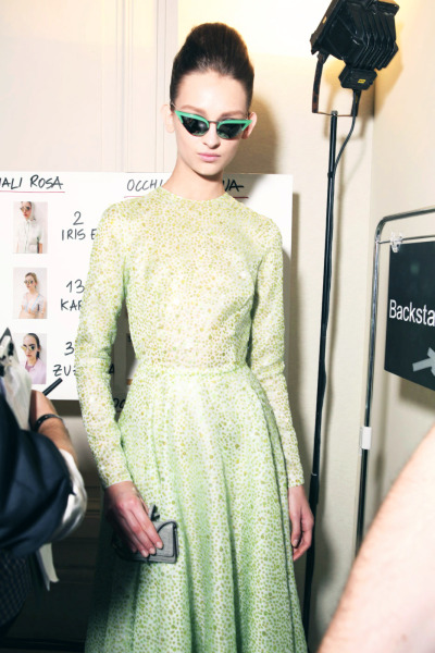 philoclea:  Daga Ziober backstage at Rochas, Spring 2012