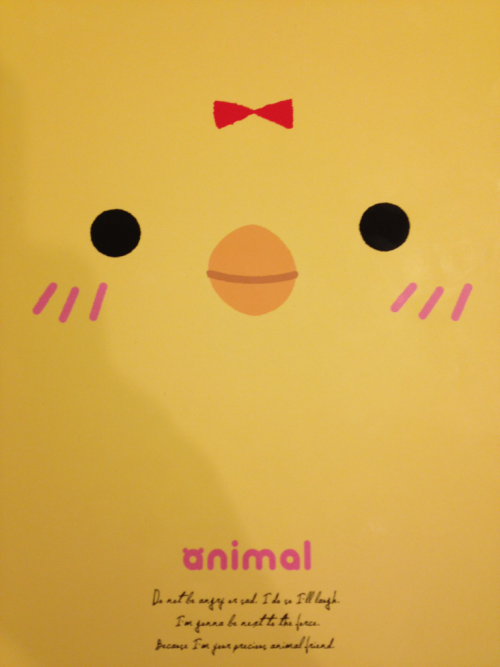 My cutest notebook in the world. Remind you of anyone? (hint: it's a duckbutt who likes to dance to intoxication while wearing an orange bow)