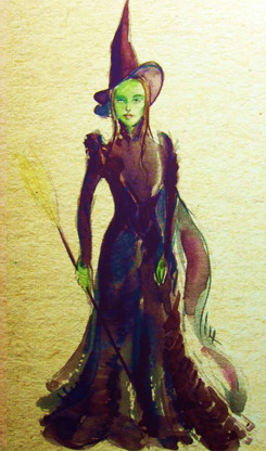 favoritewickedthings:  Character/Costume Sketches from the Grimmerie