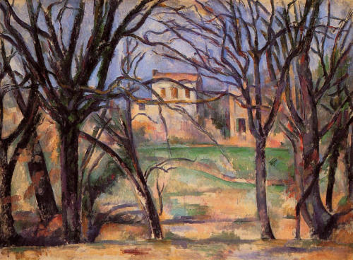 paulcezanne:  Cezanne Trees and houses, 1886