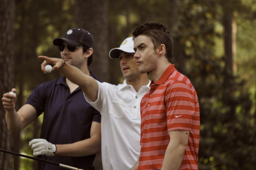 James Lafferty, Stephen Colletti, & Rob Buckley Nicholas Sparks Celebrity Golf Tournament April 21, 2012