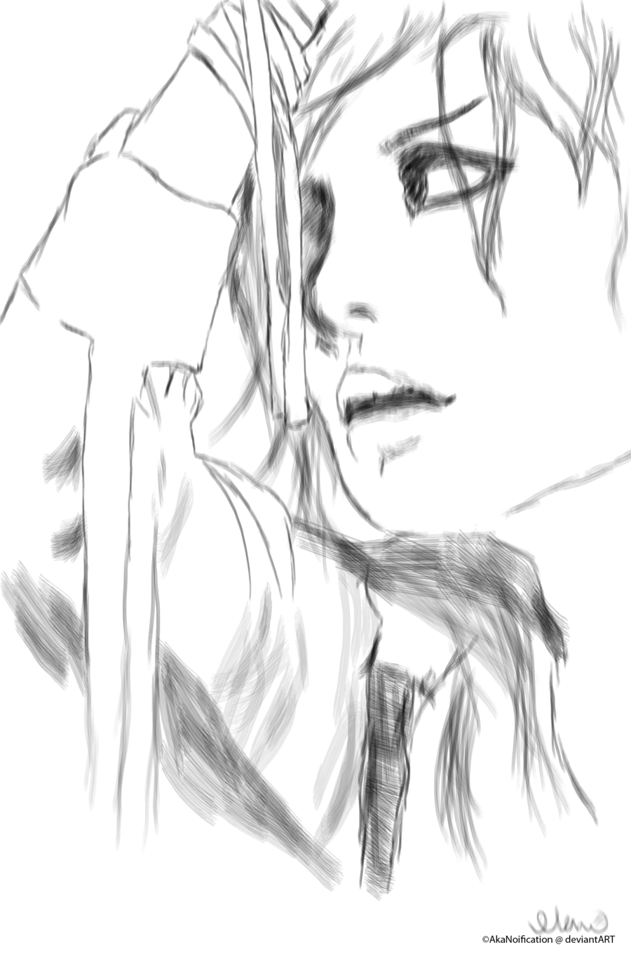 akanoification:  uruha sketch by ~AkaNoification