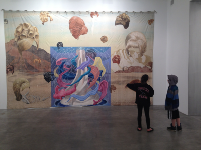 nic-rad:  Jim Shaw at metro pictures. Plus some little tykes, chillin.