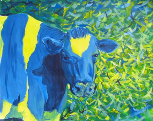 "Cow~ :) beccadesty:  ""Green Pastures"" colors are fun :3"