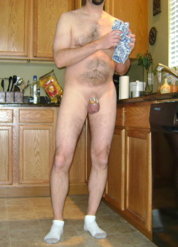 how males should be dressed in the home, socks optional , chastity and shaved cock and testicles compulsory …..