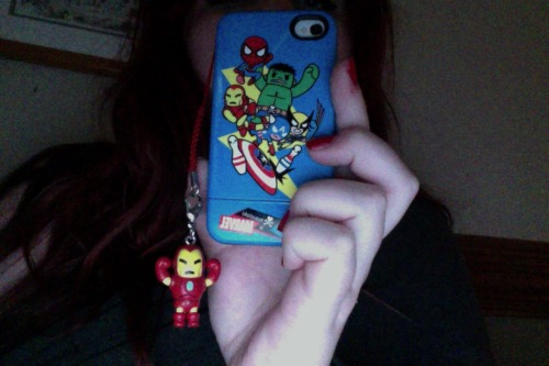 This is mah iPhone. Tokidoki Marvel case with a Tokidoki Iron Man frenzie. I've had the case on since christmas but I just put on the charm yesterday. Wheeeee!