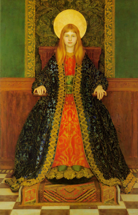 colourthysoul:  Thomas Cooper Gotch - The Child Enthroned