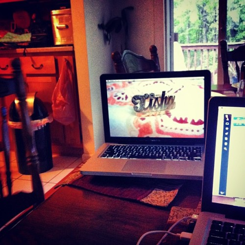 Workin on our web presences (Taken with instagram)