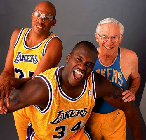 Laker bigs. Laker legends. Basketball gods.