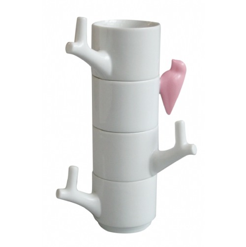 """These cups are very nice to use but at their best when stacked up, becoming a beautiful sculpture."""