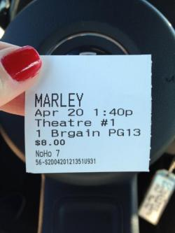 She flew all the way from Vegas to LA to watch @BobMarleyMovie #dedication #onelove #marley420 (via Twitter / @J_Smurfalicious: @bobmarleymovie I didn't t …)