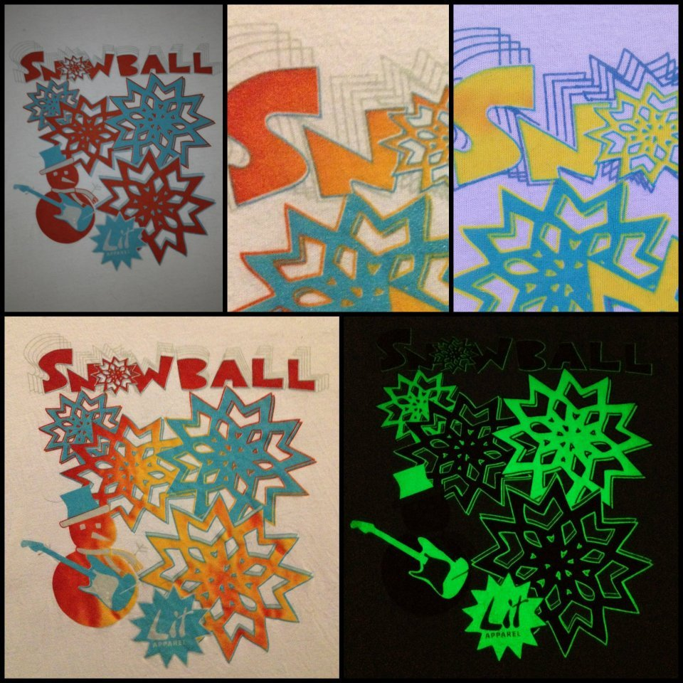 Official Snowball Music Fest shirt…heat reactive/glow in the dark.