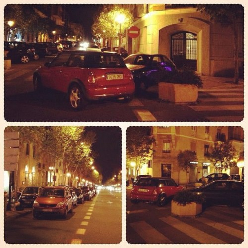 Parking in #Madrid » Not one, but *two* cars parked on a corner. A block away, a dozen double-parked cars! Really? #photooftheday #instaphoto #trouble (Taken with Instagram at Madrid, Spain)