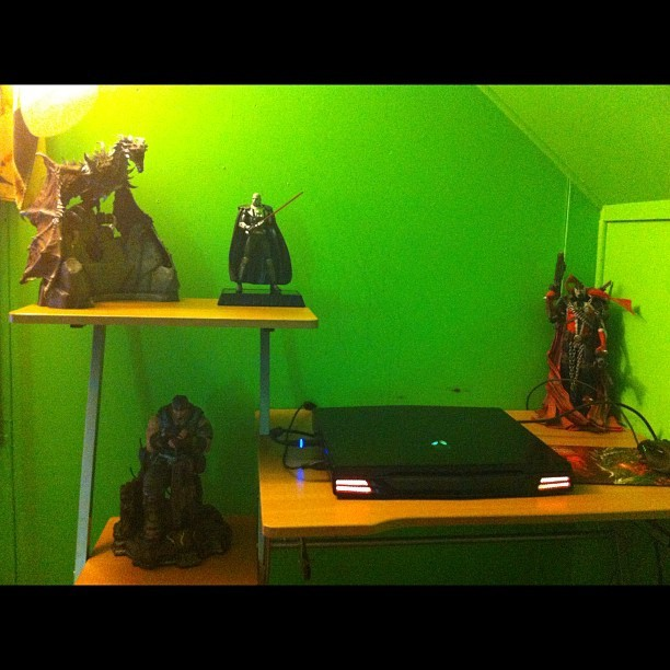 Desk is finally together. #Nerdlife (Taken with instagram)