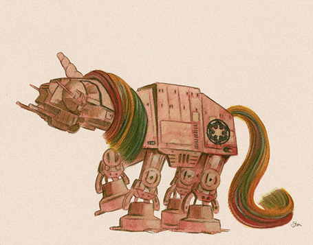 The Empire is magic and rainbows. Art by James Hance