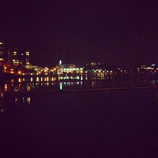 #redbank #newjersey #river #lights (Taken with instagram)