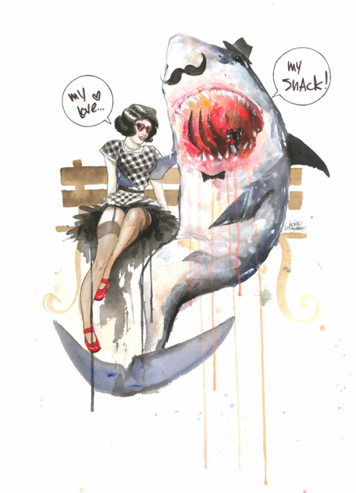 urhajos:  Mr. Shark by =Lora8  neat-o!