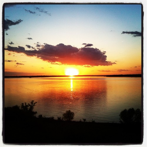 Sunset on Clinton Lake (Taken with instagram)