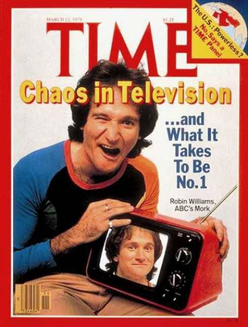superseventies:  Robin Williams as Mork on the cover of Time magazine, March 1979.