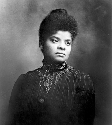 "Ida Bell Wells-Barnett (July 16, 1862 – March 25, 1931) was an African American sociologist, civil rights leader and a women's rights leader active in the Woman Suffrage Movement. ""Brave men do not gather by thousands to torture and murder a single individual, so gagged and bound he cannot make even feeble resistance or defence….."". ""If this work can contribute in any way toward proving this, and at the same time arouse the conscience of the American people to a demand for justice to every citizen, and punishment by law for the lawless, I shall feel I have done my race a service."" ""Our country's national crime is lynching. It is not the creature of an hour, the sudden outburst of uncontrolled fury, or the unspeakable brutality of an insane mob…"". ""No nation, savage or civilized, save only the United States of America, has confessed its inability to protect its women save by hanging, shooting, and burning alleged offenders."" ""Somebody must show that the Afro-American race is more sinned against than sinning, and it seems to have fallen upon me to do so…"".   (via Black History Month Open Thread - Jack & Jill Politics)"