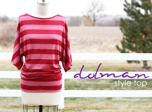 (via Make a Simple Top: Dolman Style with Banded Bottom | Make It and Love It) Easy breezy top. Hit the link for details. I can't wait to try it.