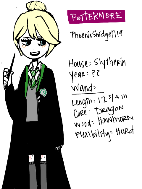 "i"" caved in"", and drew my pottermore self ""hAHAhaH"
